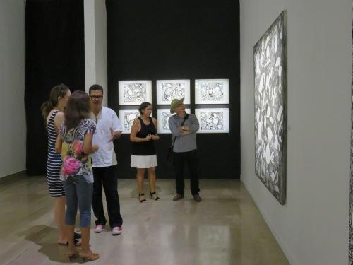 Visite de l'exposition de Ricardo Ozier - Lafontaine