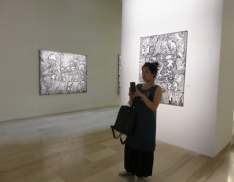 Visite de l'exposition de Ricardo Ozier - Lafontaine, Tropiques Atrium