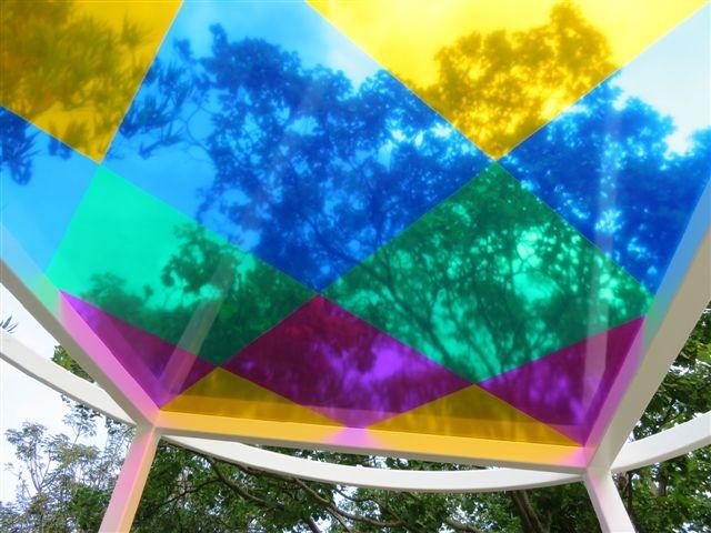 Reflets dans l'attrape - soleil