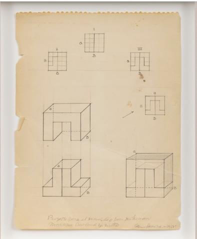 Carmen Herrera, drawings 1967 Couretesy Lisson Gallery