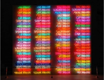 19 Bruce Nauman One hundred Live and die 1984