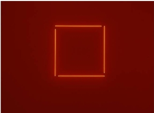 6 Stephen Anthonakos Neon incomplete square 1975