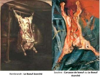 2 Le boeuf écorché de Rembrandt et Soutine