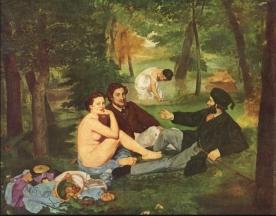 23le déjeuner sur l'herbe Manet 1863
