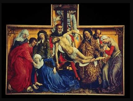 38 Retable Rogier van der Weyden La descente de croix 1435
