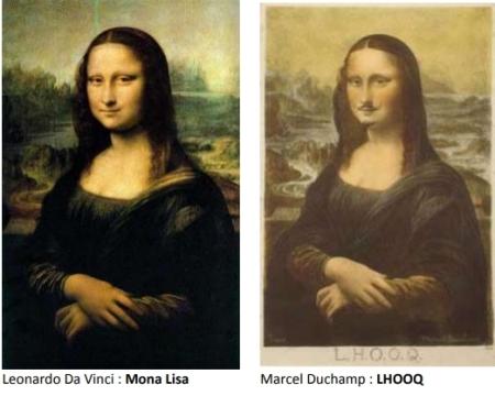 5 La Joconde de Léonard de Vinci et LHOOQ de Duchamp