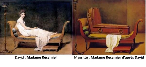 6Portrait de Madame Récamier David et Magritte