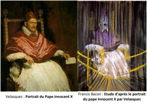 7 Portrait du Pape Innocent X Velasquez et Francis Bacon