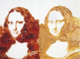 88Vik MunizVik Muniz - Double Mona Lisa - série After Warhol - 1999 - Beurre de cacahuètes et confiture