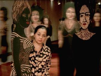 Belkis Ramirez, artiste de Saint Domingue , née en 1957