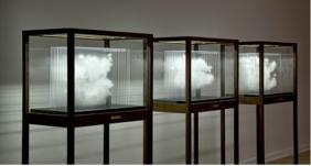 Leandro Erlich Single Cloud Collection, 2012, bois, verre, acrylique, Buenos Aeres, Galeria Ruth Bencazar.