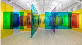 Olafur Eliasson Seu corpo da obra, 2011, feuille, bois, projecteurs, dimensions variables