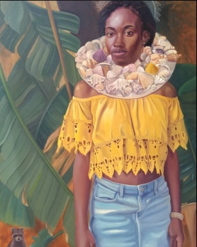 Alicia Brown Portrait of a Lady 44 x 30 oil on canvas