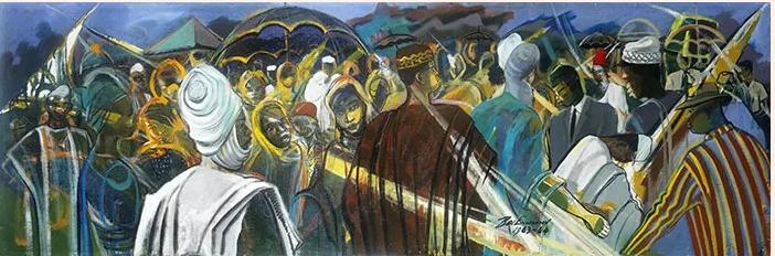 1 Ben Enwonwu's Nigerian Symphony 1963 1964) © Bonhams