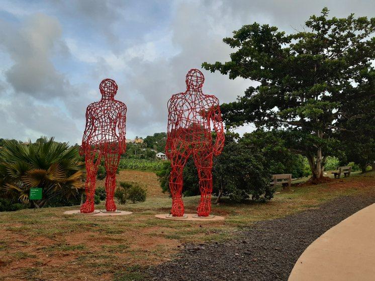 4. Armatures, Hervé Beuze, Jardin de Sculptures de la Fondation Clément( photo M Dos Santos)