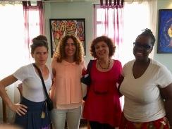 Ingrid Schaffner en compagnie de Johanna Auguiac, membre de l'Aica sc et Bisi Silva 2016