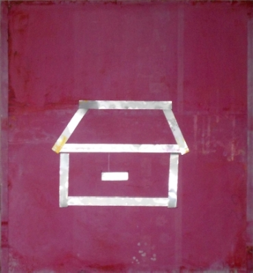 Well-Guarded House – Peinture au spray et encre sur Aluminium